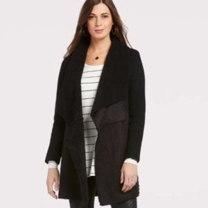 Evereve Faux shearling sweater coat